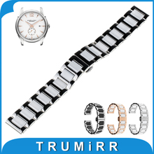 18mm 20mm 22mm Ceramic Watch Band Tool for Hamilton Butterfly Buckle Strap Wrist Belt Bracelet Black