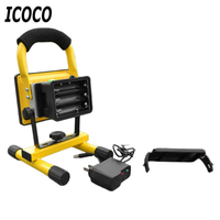 ICOCO Portable Spotlights High Power 30W LED Projection Lamp Light Searchlights Flashing Warning Waterproof Flood with holder