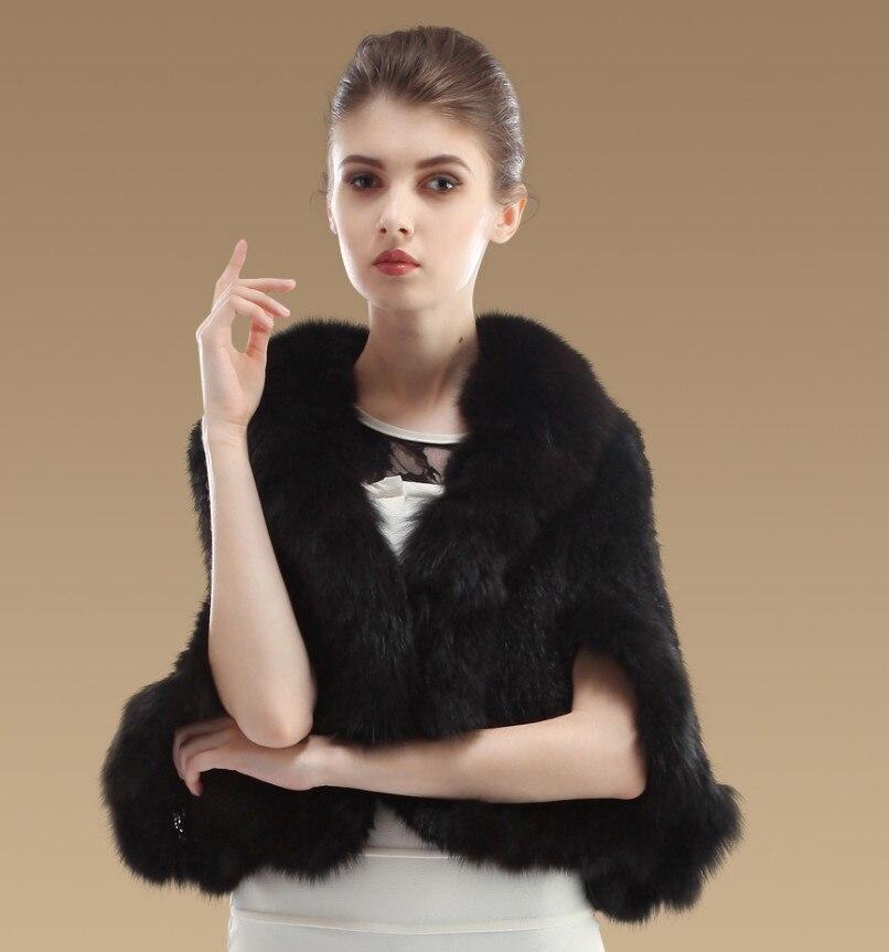 YCFUR Женская шаль, Зимняя Вязаная Шаль из натурального меха норки, шали с лисой, меховой воротник-шарф, женское пончо из настоящей норки - Цвет: Black