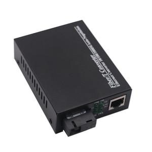 Image 2 - WDM ألياف جيجابت محول وسائط 1000Mbps أحادي الوضع واحد الألياف البصرية جهاز الإرسال والاستقبال محول Tx1310nm/1550nm SC إلى RJ45