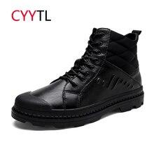CYYTL/Брендовые мужские ботинки; теплые рабочие ботинки в байкерском стиле; зимняя обувь для снежной погоды; Zapatos de Hombre; Мужские Военные кроссовки; кожаная обувь; Erkek Bot