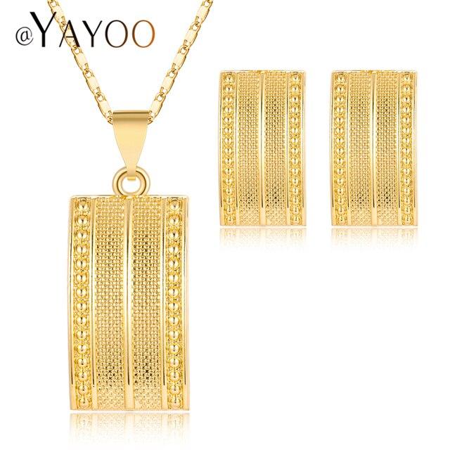 AYAYOO Jewelry Sets Nigerian Wedding African Beads Jewelry Set Square Women Brid
