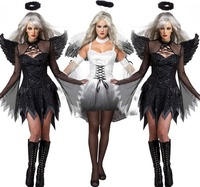 2016 New Fantasia Halloween Costumes For Women Fantasy Cosplay Party Fancy Dress Adult Fallen Angel Costume