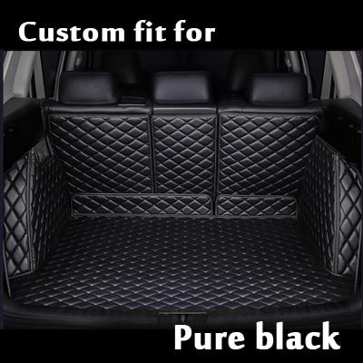 Auto Car Styling Full Set Car Trunk Mats Waterproof Boot Carpets Cargo Liner Mat For Toyota Landcruiser Zelas Sequoia