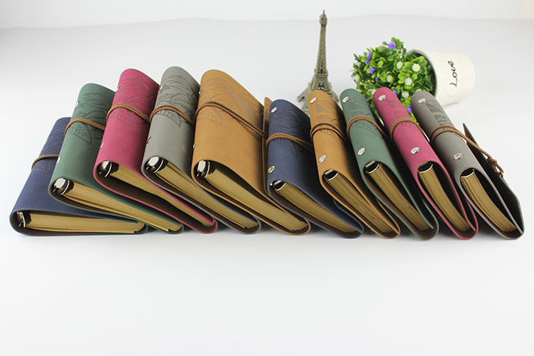 RuiZe vintage traveler's notebook travel journal diary note book leather cover A7 A6 ring binder kraft paper blank sketchbook