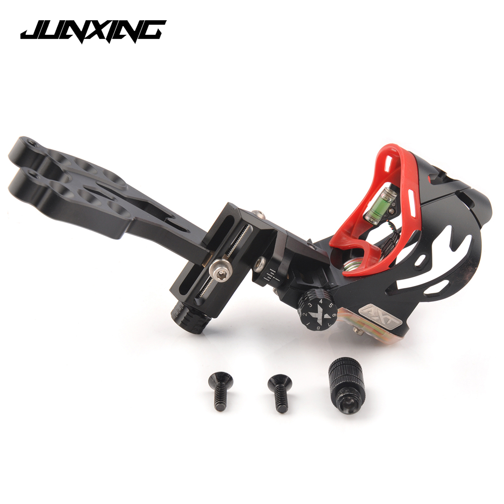 New Archery 5 Pin Bow Sight with Sight Light Adjustable Sight Bubble Level for Compound Bow Hunting Shooting стоимость