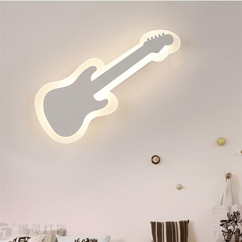 ФОТО Violin LED Wall Light Bedroom Wall Light Corridor Aisle Wall Lamp Home Art Decor