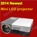 Envío gratis Mini 1080 P de cine en casa proyector LED Multimedia Mini proyector Portable soporte HDMI AV in de vídeo VGA HDMI USB SD