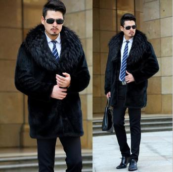 Autumn faux mink leather jacket mens winter thicken warm fur leather coat men slim jackets jaqueta couro fashion big fur collar autumn faux mink leather jacket mens winter thicken warm fur leather coat men slim jackets jaqueta couro fashion big fur collar