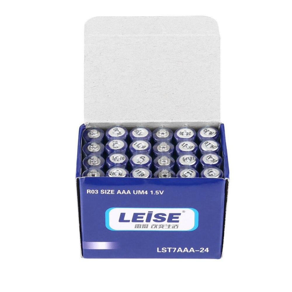 LEISE 24 pz Batterie Durevoli Sicuro Forte Affidabile Stabile a prova di Esplosione Ambiente Amichevole Nessun Mercurio AAA UM4 1.5 V batteria