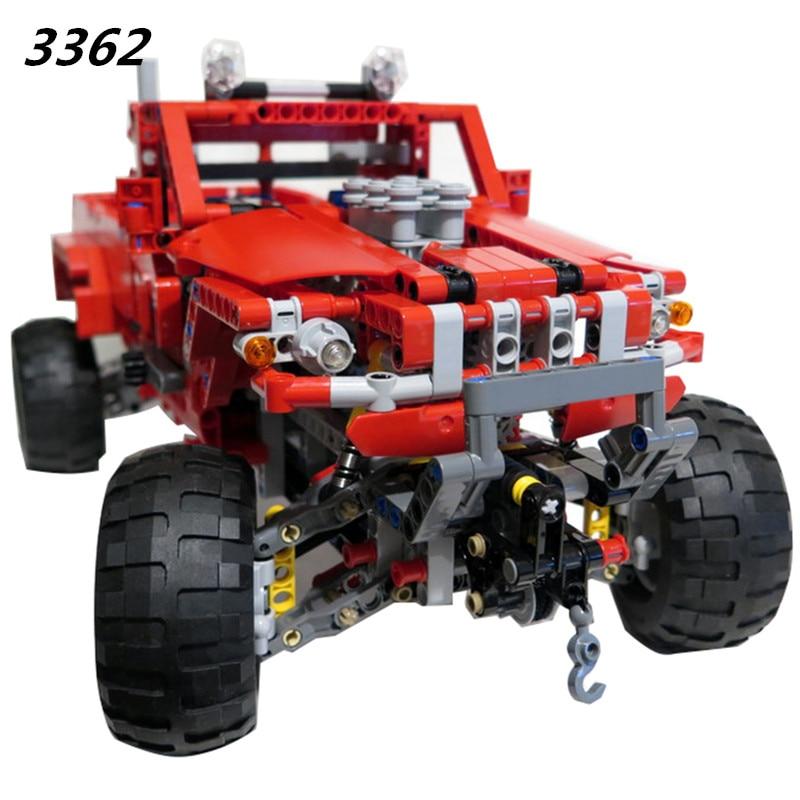 DECOOL Nuovo 3362 Personalizzato Pick Up Truck Camion Building Block Mattoni Toy Boy Gioco Modello di Auto Regalo FAI DA TE Compatibile con 42029-in Blocchi da Giocattoli e hobby su  Gruppo 2