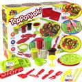 Eco-friendly Teppanyaki 3d dough clay space plasticine mould set child gift Playdough safe no harmful play doh