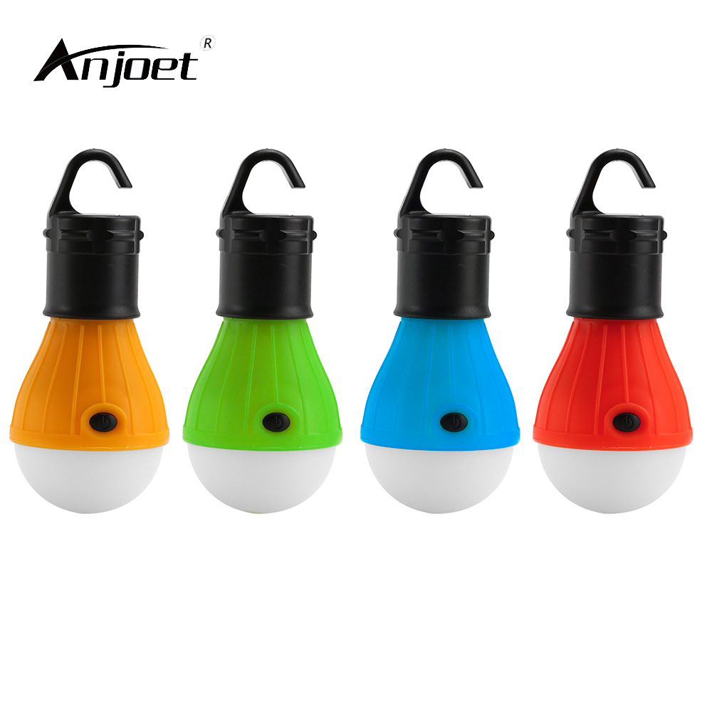 ANJOET LED portable light bulb with hook emergency lighting use AAA battery camping stall lamp Night light chandelier