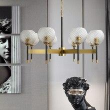 Nordic Loft Creative LED Chandeliers Modern Living Room Gold Luxury Hanging Lamp Pineapple Pattern Lampshade Droplight Lighting