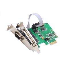 2 Серийный 1 Параллельный PCI-e Контроллер Карты Полный Низкопрофильные Кронштейны WCH382 chip