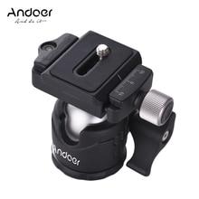 Andoerมินิโต๊ะหัวบอล360องศาวิดีโอขาตั้งกล้องหัวบอลเมากับจานที่ออกข่าวด่วนฟองระดับสำหรับCanon Nikon Sony