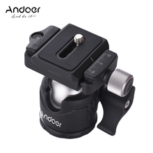 Andoer Mini Tabletop Ball Head 360 Degree Video Tripod Ballhead Mount with Quick Release Plate Bubble Level for Canon Nikon Sony