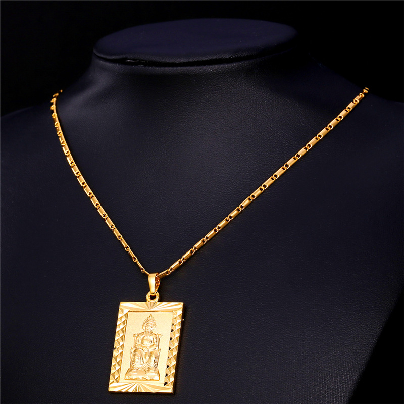 chains pieces product gold length jewelry chain necklace square male filling design wholesale hip for pendants mens handmade fashion hop pendant charms men