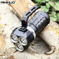 AIMIHUO факел профессиональный производства светодиодный свет фонарик для дайвинга Портативный CREE 3L2 водонепроницаемый 6000LM 100 м фонарик