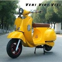 Venividivici город электрический автомобиль hornet электрический мотоциклетные ретро новый аккумулятор скутер Алюминий сплав колеса