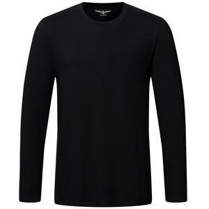 Image 5 - גבוהה באיכות כותנה t חולצה אביב סתיו אופנה גברים חולצה homme גברים ארוך שרוולים O צוואר מוצק מקרית חולצות חולצות Tees 2pcs