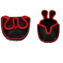 Golf mallet putter capa clube headcover fecho magnético para centro eixo clube headcover frete grátis