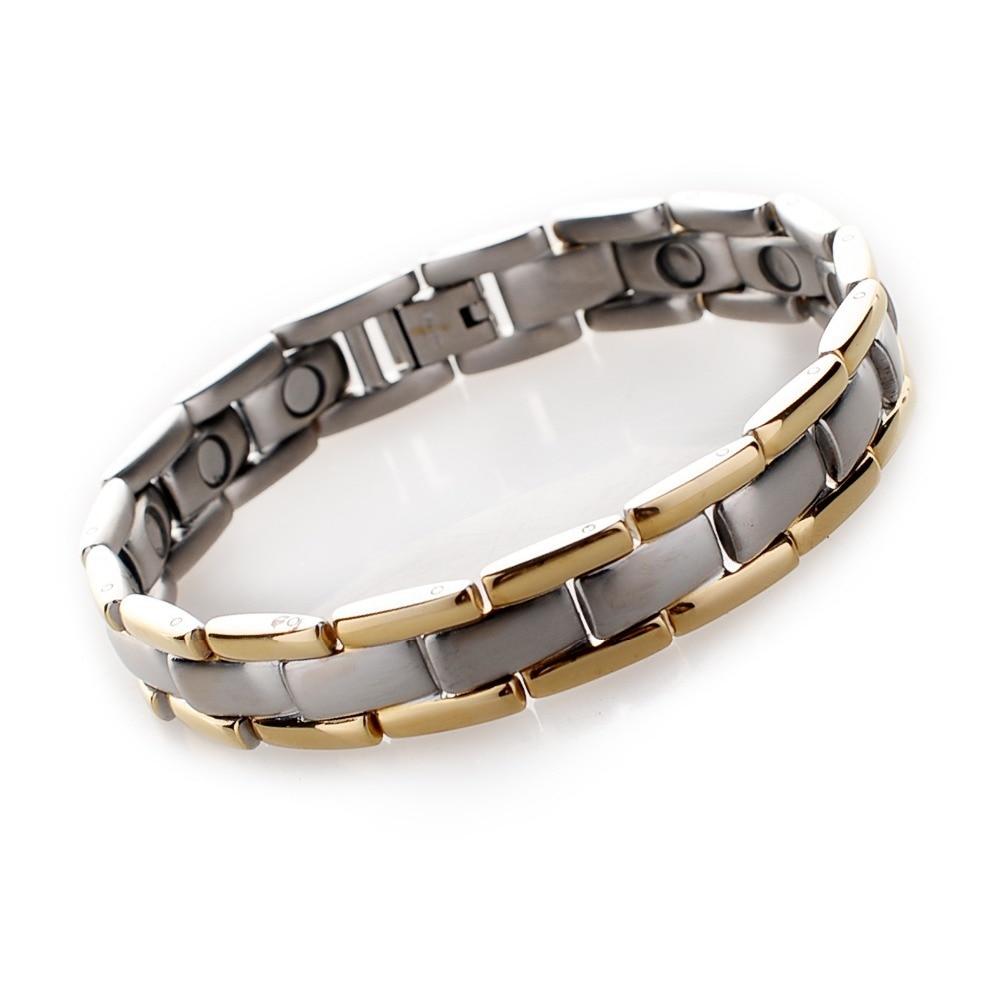 Mens Jewelry Hexa Energy Health Magnetic Surgical Steel Bracelet Gelang Kesehatan Bio Black Pria Source Titanium 4 In 1 Germanium