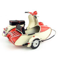 Mini Vespa Tricycle model motorcycle vintage metal red green motorcycle toy safe HARLEY diecast vespa motor collection