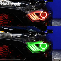 For Ford Mustang 2015 2016 2017 LED Perimeter Headlight Rings Halo Multi Color RGB Angel Demon