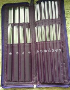 Image 2 - De doble punta un conjunto de 5 tejer agujas de ganchillo con gancho aguja Circular gancho costura herramienta para tejer 61155