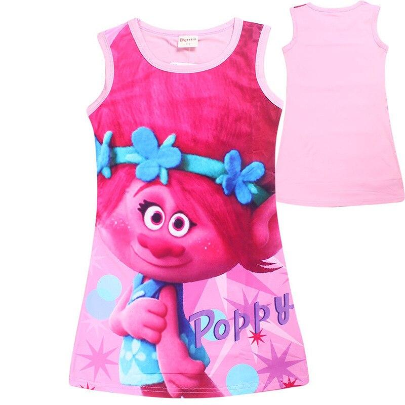 Trolls vestido más nuevo del verano bebé de Moana Niñas patrón de ...