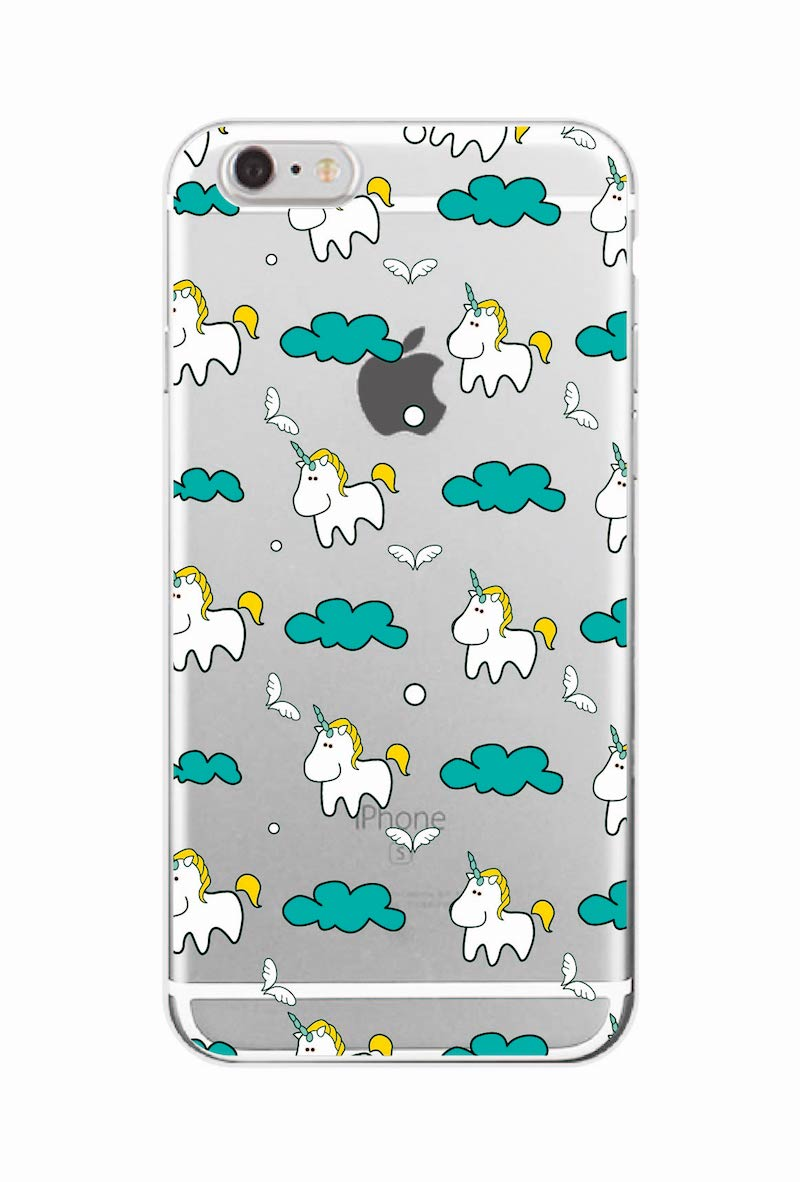Cute Unicorn Rainbow Pizza Coffee Cartoon Quote Soft Clear Phone Case - Mobile Phone Accessories and Parts - Photo 3
