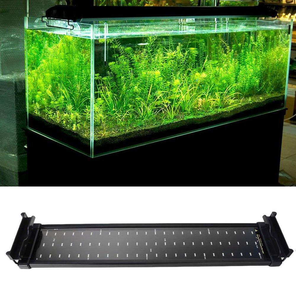 Aliexpress com buy aquarium fish tank smd led light lamp 11w 2 mode 50cm 60 white 12 blue eu uk us plug marine aquarium led lighting aquario from