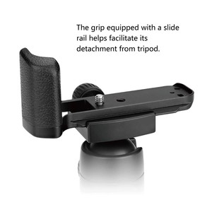 Image 3 - Meike XT20G אלומיניום סגסוגת יד אחיזה שחרור מהיר צלחת סוגר L Fujifilm X T20 X T10 XT 20 מצלמה