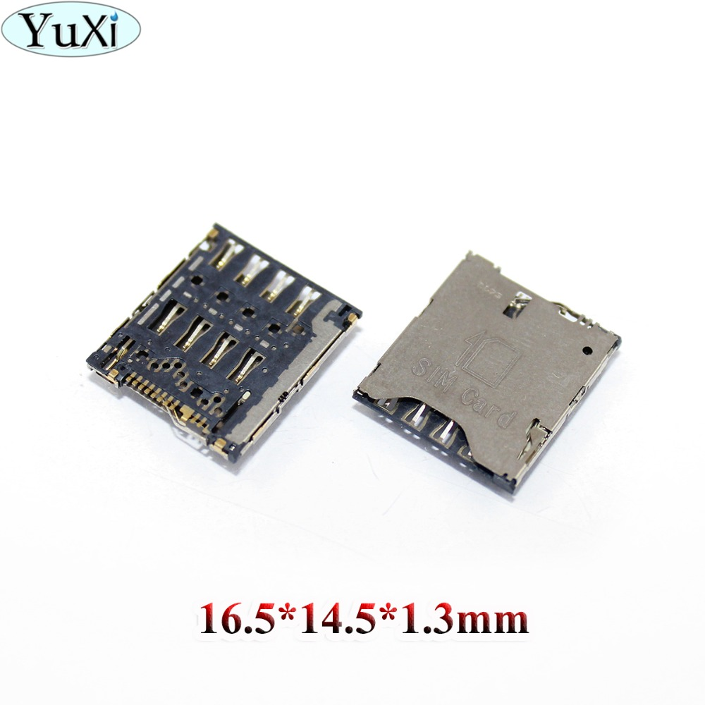 YuXi Sim card socket module for Alcatel idol X one touch OT-6040 6040 for HTC One S Z520E card reader slot tray replacement