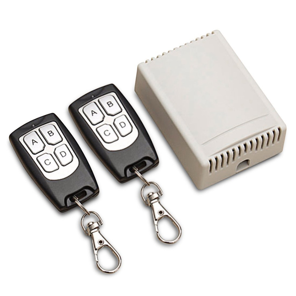 QIACHIP Universal Wireless Remote Control Switch DC <font><b>12V</b></font> <font><b>4CH</b></font> <font><b>relay</b></font> Receiver <font><b>Module</b></font> With 4 channel RF Remote 433 Mhz Transmitter image