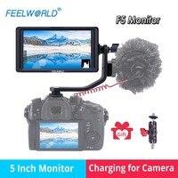 FEELWORLD F5 5 дюймов 4 К HDMI DSLR на Камера поле монитор Дисплей для зарядки sony Nikon Canon DJI Ронин s zhiyun кран 2 Gimbal