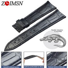 ZLIMSN Customized Crocodile Leather Strap Fit For Longines Omega Jaeger vacheron constantin Universal Leather WatchBand