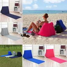 beach mat camping mattress beach lounger cushion with inflatable pillow foldable beach chair camping travel air bed(China)