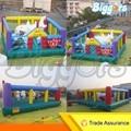 Бесплатная доставка по морю Коммерческих Надувной Детский Развлекательный Вышибала Fun City Площадка
