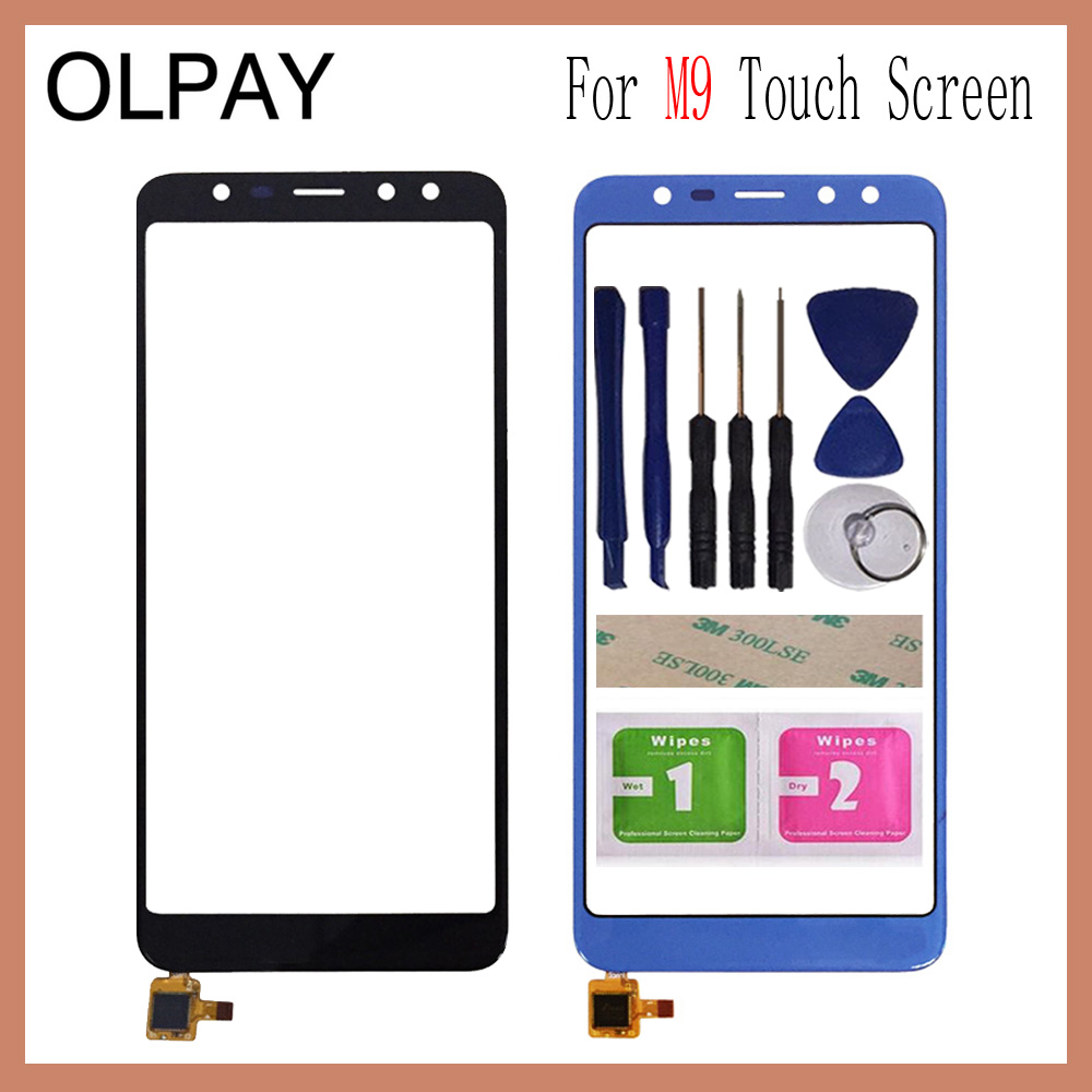 OLPAY 5.5 Inch For Leagoo M9 Touch Screen Digitizer Panel Front Outer Front Glass Lens Sensor Free Adhesive+Wipes