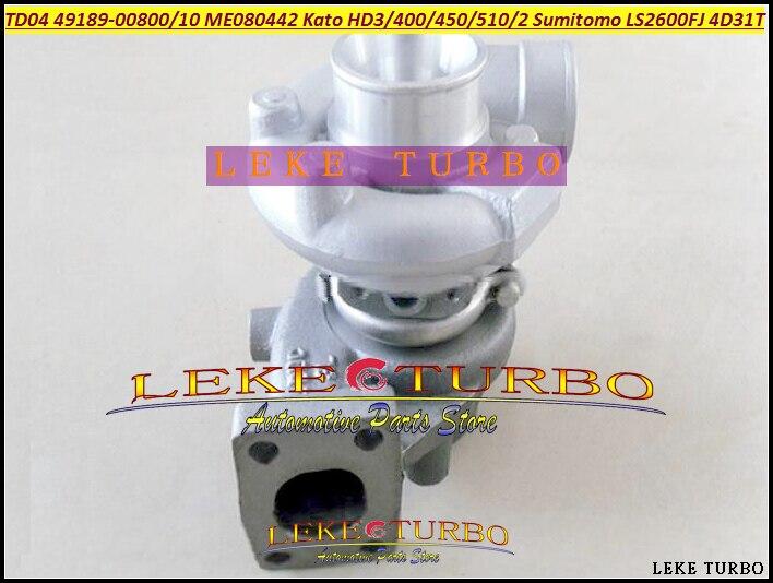 TD04-13G 49189-00800 49189-00810 ME080442 Turbo For Kato Excavator HD400 HD450 HD510 HD512 For Sumitomo LS2600FJ 2650 4D31T 4.3L