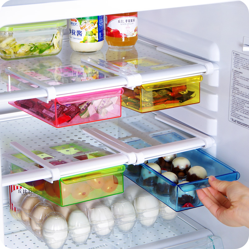 Fridge Organizer Storage Basket Kitchen Freezer Clear Multiporpuse Bin Refrigerator Container Food Sundries Plastic Drawer Slide In Racks Holders From