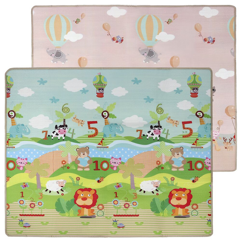 Tapis de jeu pliable grand temps de ventre pliant tapis de bébé réversibles pour jouer/ramper tapis de jeu en mousse Non toxique pour nourrissons/tout-petit