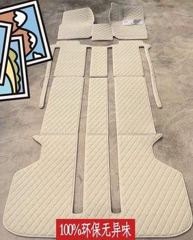 Leather car floor mat carpet for Toyota Vellfire Alphard MPV trunk cargo liner foot mat custom fit