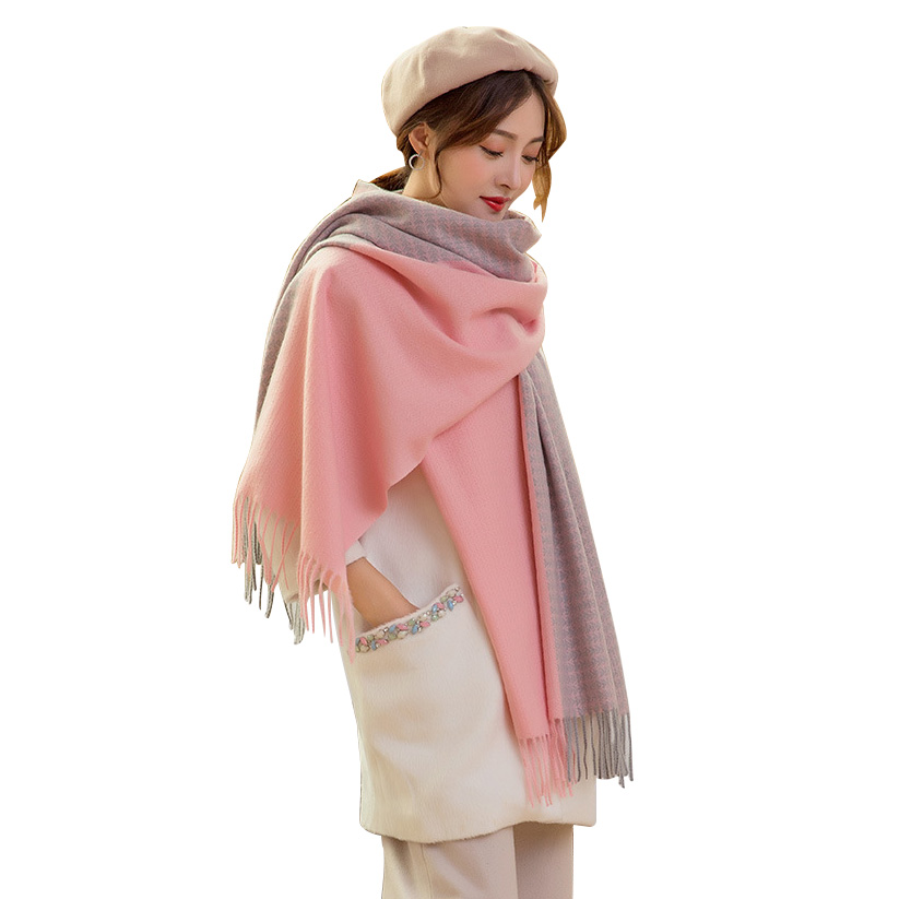 Double Sided Cashmere Scarf For Women Autumn Winter Long