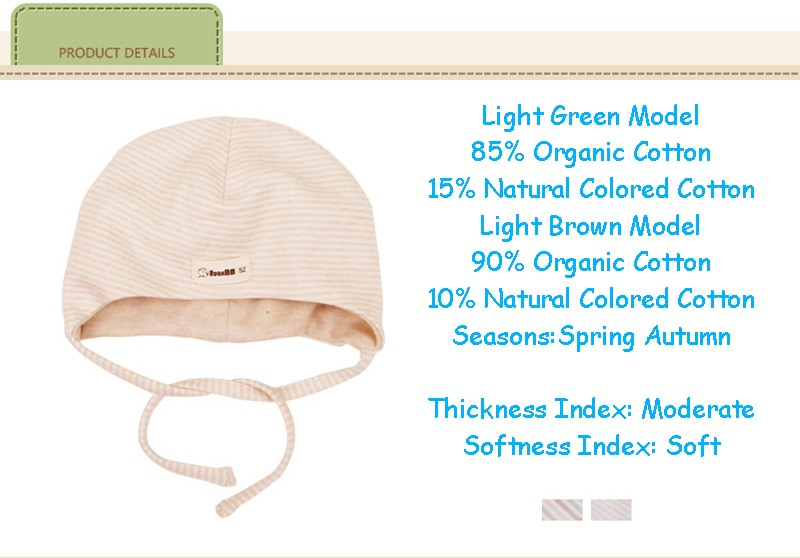 Natural Cotton Baby Hat (3)