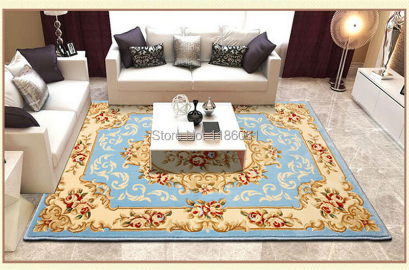 Hot Sale Thicken Shaggy Modern Carpet For Livingroom And Area Blue Rug Of Bathroom Bedroom Carpets