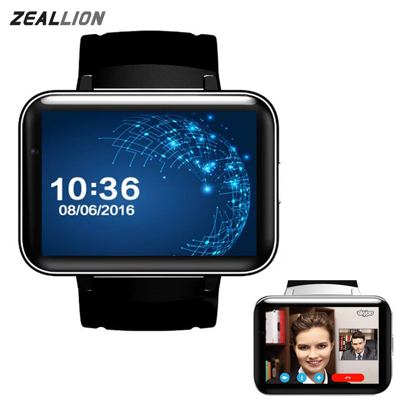 ZEALLION Smart Watch DM98 Android 4.4 GPS Wifi Support SIM 2.2 Display Bluetooth 4.0 Fashion Health Fitness SmartWatch smart baby watch q60s детские часы с gps голубые