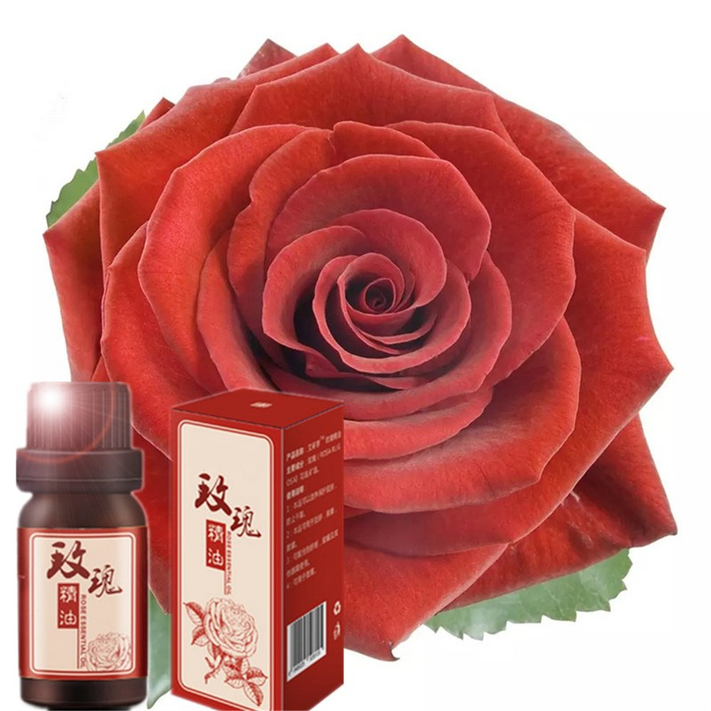 100% Pure Rose Essential Oil 10ml for Remove black spot and Acne Fade Acne Marks, Help Sleep, Face Care Oil From Nature Rose Oil image